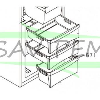 Bac congélateur inferieur réfrigerateur GLEM GRI31CA