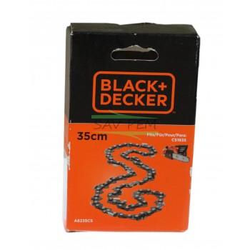 Chaîne A6235CS de 35 cm pour tronçonneuse BLACK & DECKER CS1835