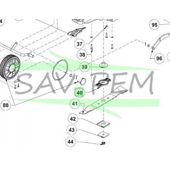 Support de lame tondeuses RYOBI modèles RLM18X40H240