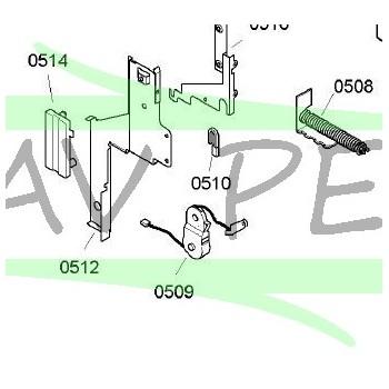 Poulie de tension câble de porte de lave-vaisselle AIRLUX LVF420