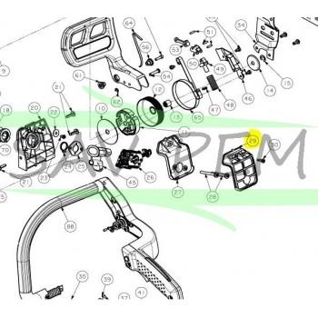 Filtre à air tronçonneuses RYOBI RCS5133CB - PCN454