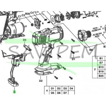 Interrupteur perceuses / visseuses AEG BS18G-LI / BS18GNC-142C