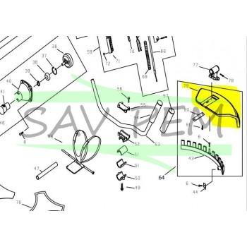 Carter de protection débroussailleuses RYOBI RBC40SB - RBC38SB