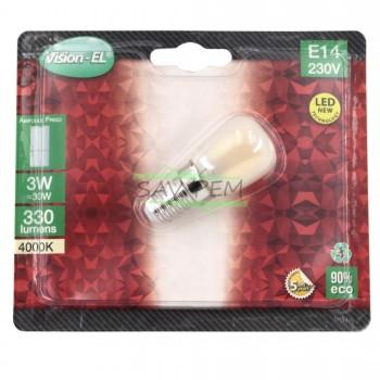 Ampoule SPECIALE réfrigérateur LED culot E14. Puissance 3 watts - 4000°K