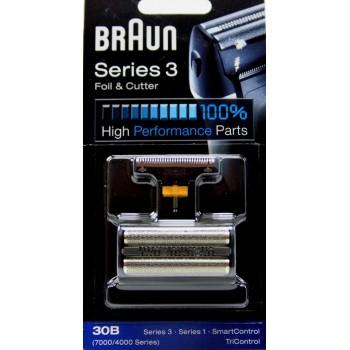 Grille et couteau 30B pour rasoirs BRAUN Combi-pack 7000 series 3 smart control,
