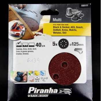 Abrasifs rond 125mm pour ponceuses BLACK & DECKER